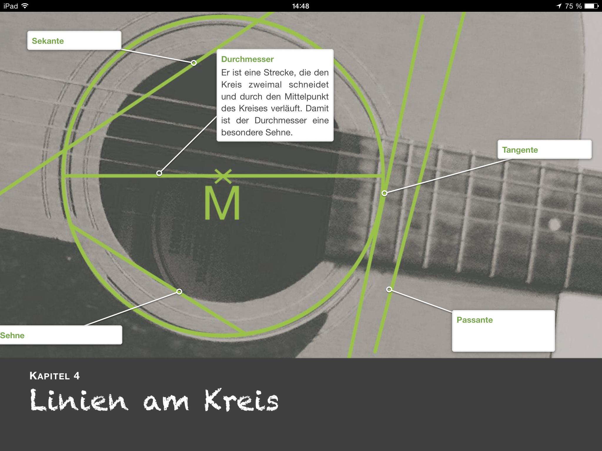 Mathematik: Geometrie für Klasse 8/9 – Der Kreis   Multi-Touch-Bücher